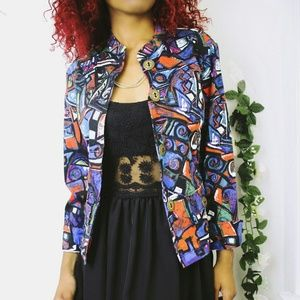 Chico's Jackets & Blazers - Chicos Abstract Buttoned Jacket