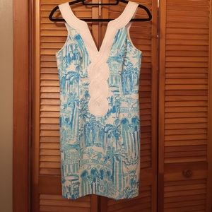 Lilly Pulitzer Valli Dress La via loca blue white