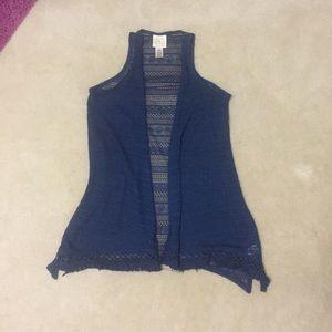 Belle Du Jour Sweaters - ✨SALE✨Belle Du Jour Blue Lace Cardigan