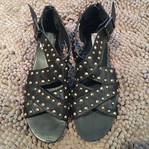 Steve Madden Shoes - Steve Madden black with gold stud sandals