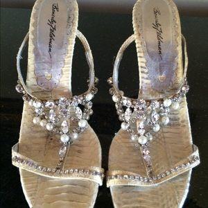 Beverly Feldman slide heel shoe 8 fair condition