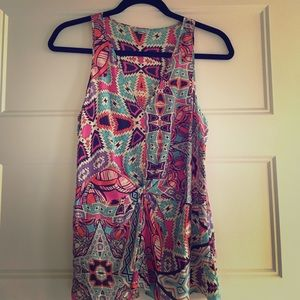 Anthropologie Tops - Anthropologie patterned silk tank
