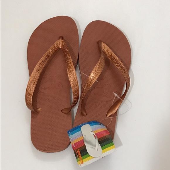 8167232a2 Havaiana bronze flip flop Sandals Size 9