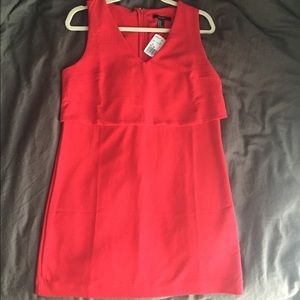 Red layered shift dress