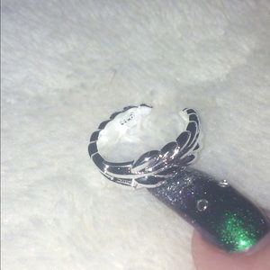 .925 Sterling Silver Leaf Toe Ring