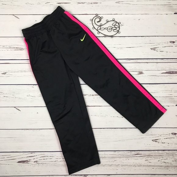 Nike Nike Girls Athletic Pants Black Pink Size 6 From