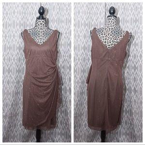 Alex Evenings Dresses & Skirts - Sparkle Dress 14P w/Rhinestone Shoulder Detail