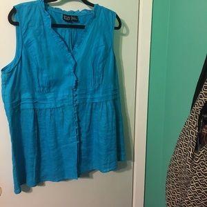Alexandra Bartlett Tops - Alexandra Bartlett 1X lightly worn linen top!