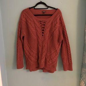 SALE 💕Oversized knit lace up sweater