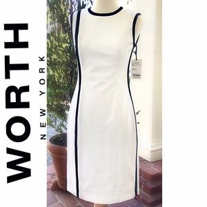NWT Classic WORTH New York White Dress Sz. 2