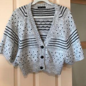 Dolman sleeve sweater cardigan