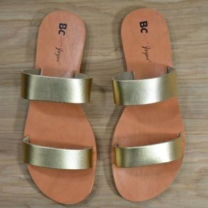 BC Footwear for Joyus Minute Sandals in Gold