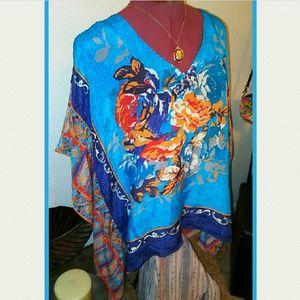 Tolani Tops - Tolani 100% Silk Blouse ~Gorgeous!