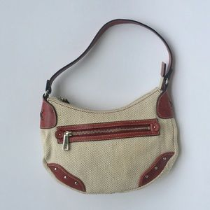 Fossil Handbags - Fossil Small Handbag Tan & Brown w Leather Detail