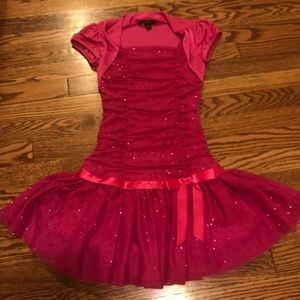 Amy Byer Other - Girls sparkly pink party dress