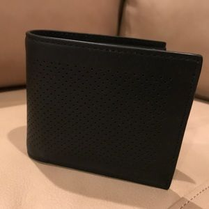 Coach Other - Men's Coach Perforated Leather Wallet