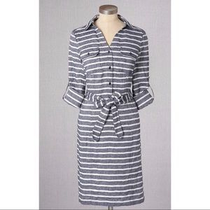 Boden Dresses & Skirts - Boden Chambray Striped Linen Dress