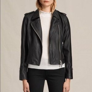 All Saints Jackets & Blazers - Allsaints black leather jacket US 4