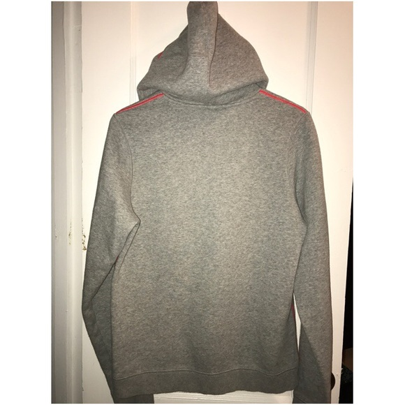 Pink and grey under armour hoodie