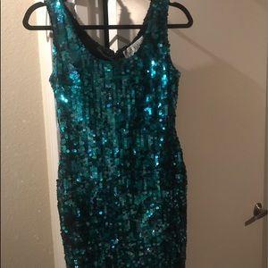 A.J. Bari Dresses & Skirts - AJ Bari size 4 teal sequin dress