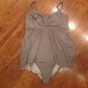 dde5524ec461f Garnet Hill Swim - Garnet Hill Retro Ruched-Overlay Swimming Suit 12