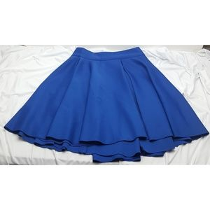 Necessary Objects Dresses & Skirts - Necessary Objects Blue Pleat Full Skirt