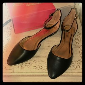 Shoes - Classy but also cute  !!  Ankle strap flat.