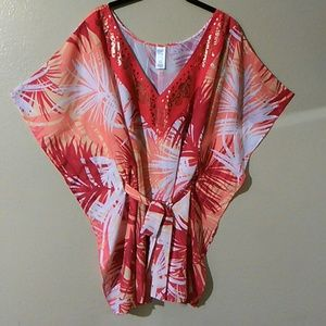 Tops - V NECK PULLOVER TOP WITH MATCHING BELT NWOT