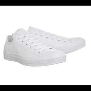 White Leather Converse Sneakers