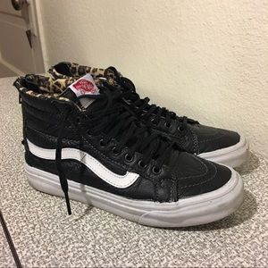 Vans Leather Sk8 Hi Slim Zip Sneakers