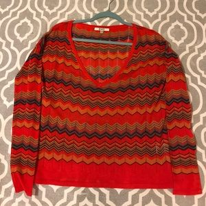 BB Dakota Sweaters - Sheer BBDakota v neck sweater