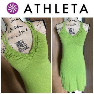 Athleta V-Neck Tank Shelf Bra Strappy Dress