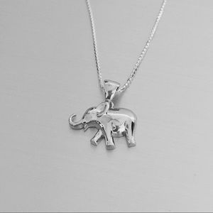 Jewelry - Sterling Silver Small Elephant 🐘 Necklace