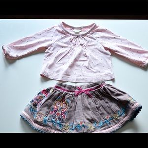 Monsoon Other - Monsoon baby girl skirt and shirt
