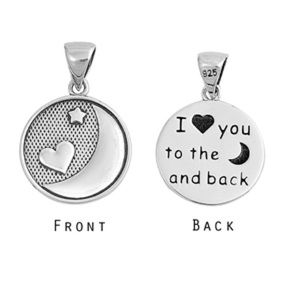 Jewelry - Sterling Silver I Love You 💕 Moon 🌙 Necklace