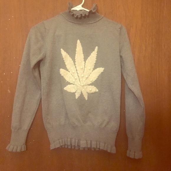 cannabis marijuana ugly pearl christmas sweater