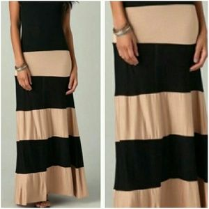 Dresses & Skirts - Mocha color block dress ONE DAY SALE