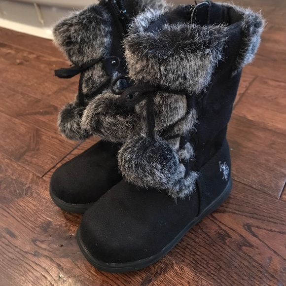 56 u s polo assn other polo faux fur boots