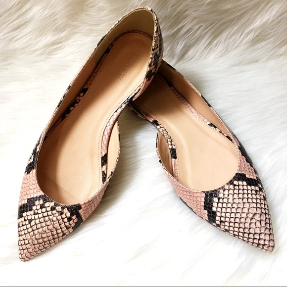 60880b918471 Audrey Flats in Snakeskin-printed Leather