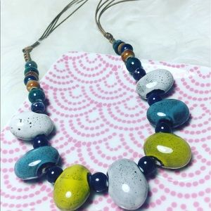 Jewelry - SOLD Handmade Ceramic Statement Necklace