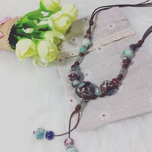 Jewelry - Ceramic Long Statement Sweater Necklace