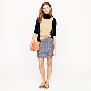 j. crew tweed skirt size 2 excellent condition