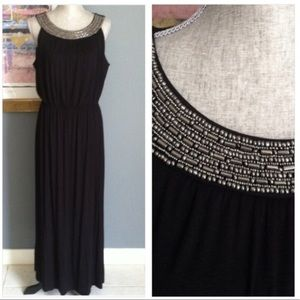 AGB Dresses & Skirts - AGB Beaded Neckline Dress
