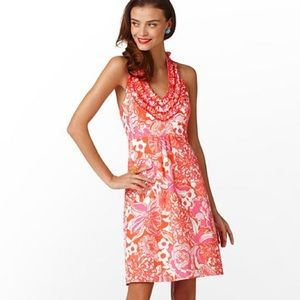 lilly pulitzer lillian dress in orange tango size4