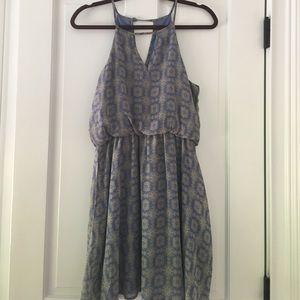 Francesca's Collections Dresses & Skirts - Francesca's Blue Patterned Dress