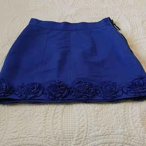 Twelve by Twelve Dresses & Skirts - Royal blue rosette floral skirt