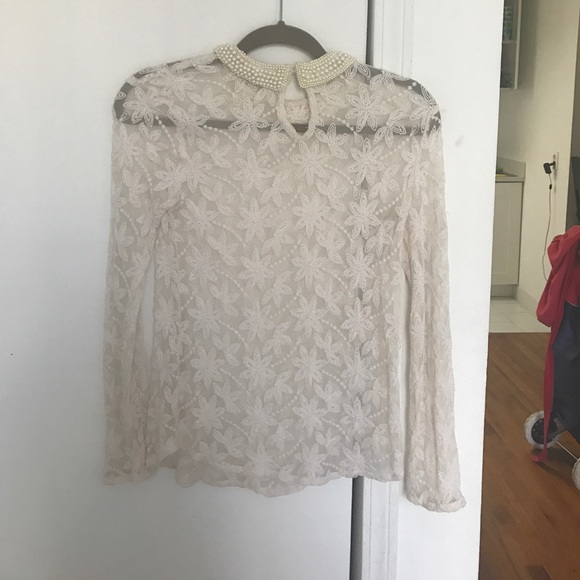 Zara Pearl Embroidered Blouse 68