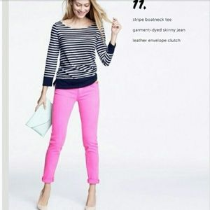 J. Crew Pants - J Crew Neon Pink Toothpick Cropped Ankle Jeans