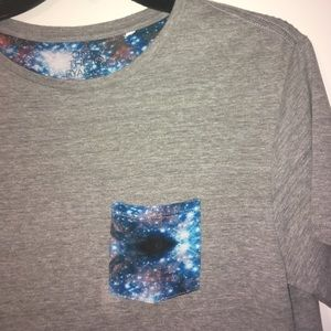 on the byas Other - On the Byas Gray Galaxy Pocket T-Shirt Size Small