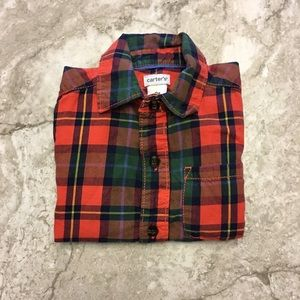 Carter's Other - Carter's 3T red & green plaid button down shirt